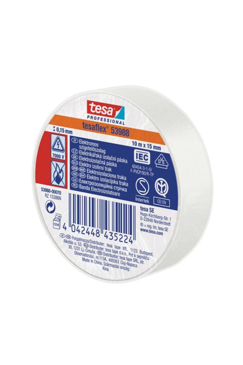 Soft PVC Genel Amaçlı Elektrik İzolasyon Bandı (Beyaz) 10 * 15