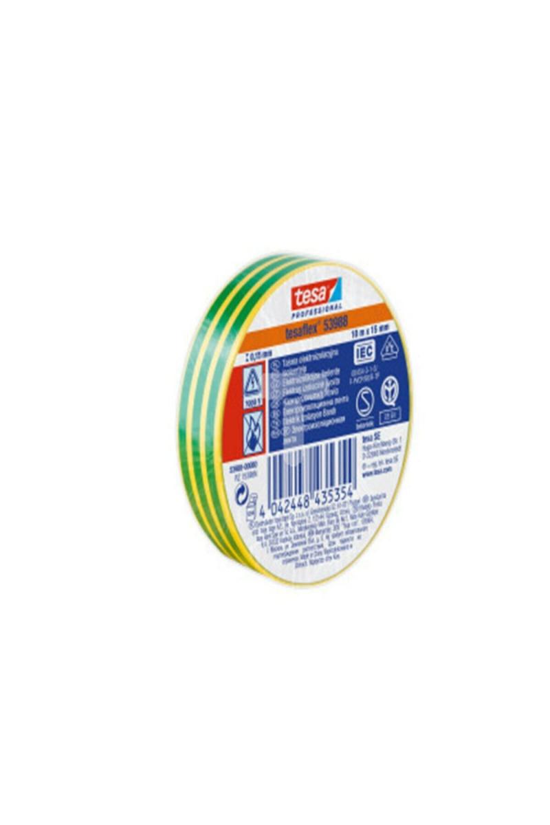 Soft PVC Genel Amaçlı Elektrik İzolasyon Bandı (Yeşil Sarı) 10 * 15